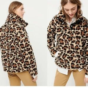 J CREW Vintage Fleece Sherpa Pullover Sweatshirt